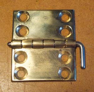 Bechstein grand, c.1860 loose pin lid hinge